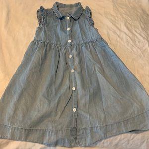 Baby Gap Button Up Denim Dress 4T
